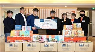 นายอินทร์บริจาคหนังสือให้กับมูลนิธิศุภนิมิตแห่งประเทศไทยจำนวน 5000เล่ม