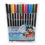 ปากกาสีน้ำ 12 สี ตรา Horse(H-88)