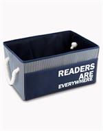 กล่องอเนกประสงค์ผ้าลายริ้ว สีกรมท่า #11