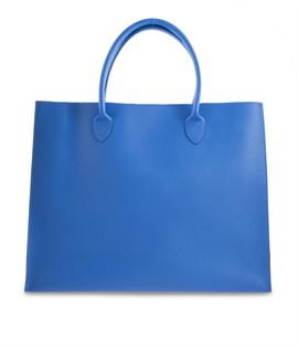 กระเป๋าหนัง(ใหญ่)สีน้ำเงิน No.16