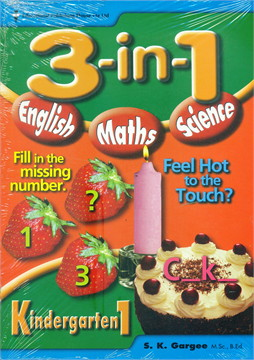 """K1 3-in-1 English, Maths, Science"""