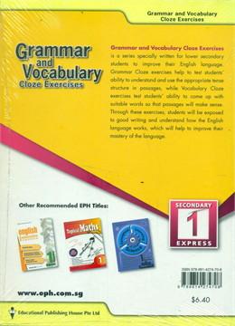 S1 (E) Grammar & Vocabulary Close EX