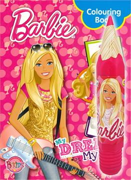 Barbie My Dream My Way + กล่องดินสอและดินสอสีไม้