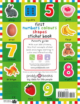 First 100 Stickers: Numbers, Colours