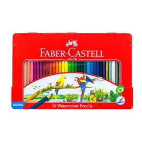 FABER CASTELL สีระบายน้ำนกแก้ว 36 สี กล่องเหล็ก