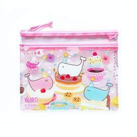 แฟ้มซองซิปใส ลาย Kuro Sweets Party Pink