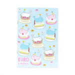 สมุดโน้ต A5 ลาย Kuro cake Blue
