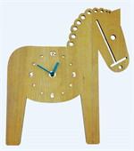 Horse wooden wall clock