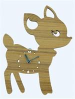Deer wooden wall clock
