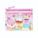 แฟ้มซองซิปใส Kuro Sweets Party Pink