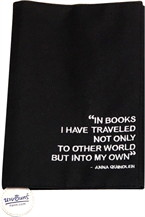 ผ้าหุ้มปกหนังสือ สีดำ Size L ขนาด 21.5 cm.