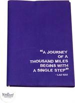 ผ้าหุ้มปกหนังสือ สีม่วง Size L ขนาด 21.5 cm.