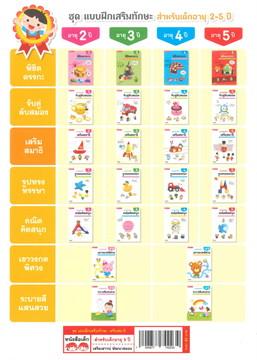 เสริมสมาธิ : ชุดแบบฝึกเสริมทักษะ สำหรับเด็กอายุ 5 ปี