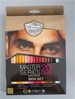 สีไม้มาสเตอร์ซีรี่ย์ 20 สี รุ่นวาดภาพคน