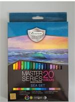 สีไม้มาสเตอร์ซีรี่ย์ 20 สี รุ่นท้องทะเล