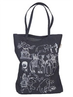 Tote bag ช้างไทยผ้ายีนส์ CL035BTH001J