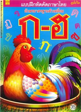 แบบฝึกหัดคัดภาษาไทย อักษรมาตรฐานตัวเหลี่ยม