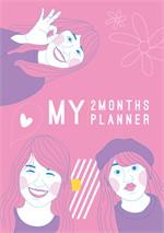 Sunbeary Planner 2 Months Pink