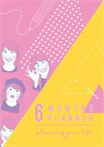 Sunbeary Planner 6 Months Pink