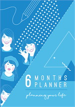 Sunbeary Planner 6 Months Blue