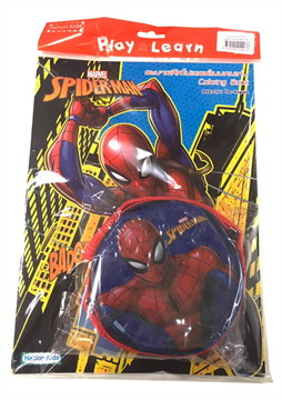 Marvel Spider-Man : ระบายสีสไปเดอร์แมนคนเก่ง พร้อมกระเป๋าสะพายกลม