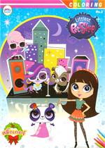 สมุดภาพระบายสี + สติ๊กเกอร์ Littlest Pet Shop 3