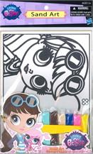 Littlest Pet ประดิษฐ์กรอบรูปโรยทรายสี (การ์ตูนผู้หญิง)
