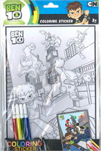 ระบายสี+สติ๊กเกอร์นูน Ben 10