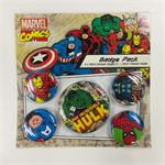 Badge packs (set of 5)-MarvelRetro(Hulk)