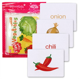 Flash Cards : Vegetables (Talking Pen)
