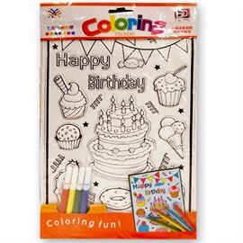 ระบายสีสติ๊กเกอร์นูน Happy Birthday