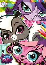สมุดภาพ Coloring Littlest Pet Shop No.1