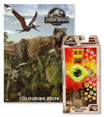 Gift set สมุดภาพระบายสี Jurassic World + นาฬิกา