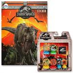 Gift set สมุดภาพระบายสี Jurassic World + แสตมเปอร์