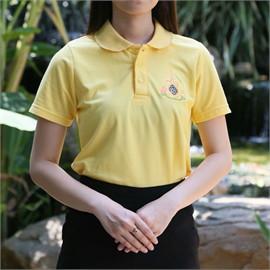 เสื้อโปโล ตราสัญลักษณ์พระราชพิธีฯ 62 (Size L-หญิง)