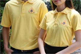 เสื้อโปโล ตราสัญลักษณ์พระราชพิธีฯ 62 (Size XL-หญิง)