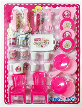 Barbie Cooking Time + Kitchen Set