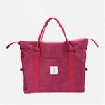 กระเป๋าสะพายกันน้ำสีพื้น แต่งสาย(สีแดง)