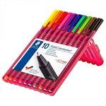 STAEDTLER TRIPLUS PERMANENT ชุดปากกาไตรพลัส ชนิดถาวร 10 สี