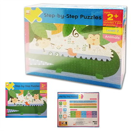 Step-by-Step Puzzles : Level 2 Animals (Ages 2+)
