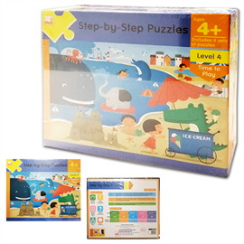 Step-by-Step Puzzles : Level 4 Time to Play (Ages 4+)