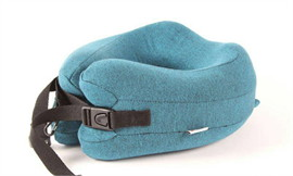 FX001-BLU หมอนรองคอสีฟ้า