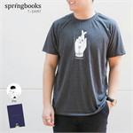 เสื้อยืด Springbooks ลาย ถ่าน Freesize ชาย