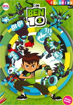 COLORING BOOK BEN 10 + Sticker No.1
