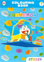 COLOURING BOOK DORAEMON STICKER No.2