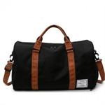 กระเป๋าสะพายแฟชั่น ผ้าแคนวาส(สีดำ)