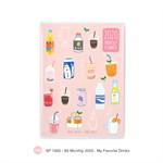 สมุด Monthly Planner 2020 A6  - My favorite Drinks