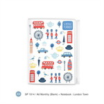 SP1914 A6 B6 Monthly Planner (Blank) : London Town