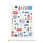 SP1922 A5 Monthly Planner (Blank) : London Town