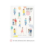 สมุด Monthly Planner 2020 A6 - Walking Around